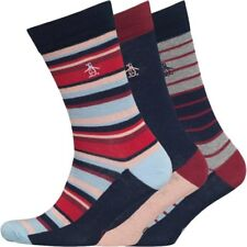 Penguin Original Mens Socks 3 Pack Stripe Formal Dress Size 7 to 11