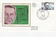 France 1975 CROIX ROUGE fonds ANDRE SIEGFRIED soie unadressed FDC