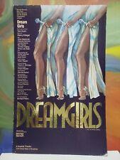 1981 Dreamgirls Broadway Window Card Imperial Theatre Gold Foil Original Geffen