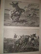 América del Sur Gauchos caza del guanaco 1891 impresiones ref AZ