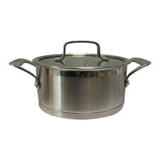 New listing 3 Qt Stainless Steel Sauce Pot Pan Cookware Rust Proof Tempered Glass Lid