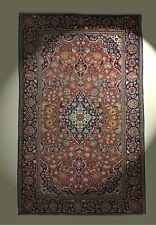 Antik Keshan Orient-Teppich Pflanzenfarben Kashan rug Tapis Tappeto 202x126 cm