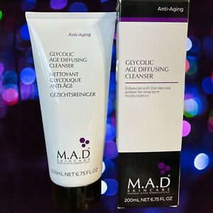 M.A.D. Skincare Anti-aging Glycolic Age Diffusing Cleanser 6.75oz. New In Boxes