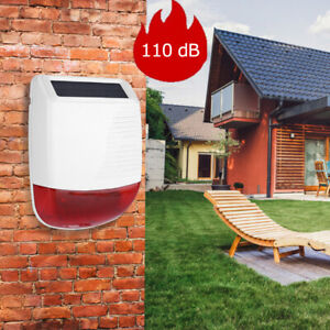 433MHz Wireless Outdoor Waterproof Solar Power Light Sound Siren Alarm