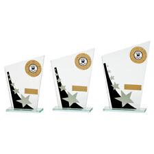 MEGA STAR 5mm Glass TROPHY AWARD 3 SIZES FREE ENGRAVING and logo