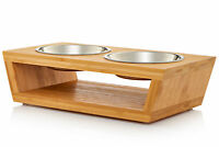 """Premium 4"""" Elevated Dog and Cat Pet Feeder (Small- 4"""" Tall)"""