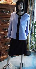 Kostüm Gr. 46 Gr. 48 flieder schwarz kontrastreich edel und understatement pur