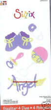 Sizzix Sizzlits Dies BABY SET #3 655302 ANGEL  RATTLE