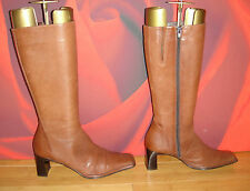 *59* SUPERB RIVA BROWN LEATHER   BOOTS   EU 38