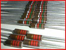 * Lot of 30; 25x1.5Kohm 10% & 5x2.2K 5% ½ W Carbon Composition Resistors New Nos