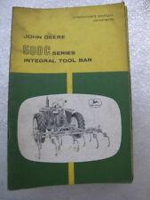 John Deere Integral Tool Bar 500C Series Manual Tractor