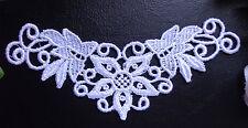 Venise lace Applique, 6 x 2+1/2 inch white color set of 2