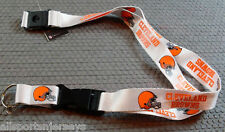 NFL NWT KEYCHAIN LANYARD- CLEVELAND BROWNS - WHITE