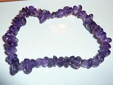 Bracelet AMETHYSTE  qualitée extra d'uruguay ! perles 6-10 mm