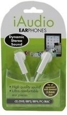 iAudio Wired White Earphones - Audio Dynamic Stereo Sound 092/564 Earbud In Ear