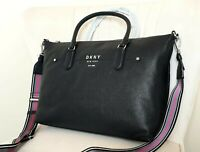 DKNY THOMSON BLACK LEATHER LARGE BAG