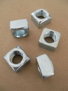 """Standard SAE 3/4""""-10 Square Nut - Course Thread - Zinc Plated - 5 10 20 pack"""