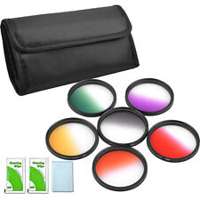 52mm Graduated Color Filter Purple Yellow Orange Red Green for Nikon D5100 D3200
