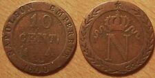 10 Centimes Napoléon I, 1800 A Paris, TTB, Faux d'époque, Rare !!