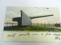 Vintage View of Cannon Captured in Cuba Lincoln Park, Chicago IL Postcard 1906