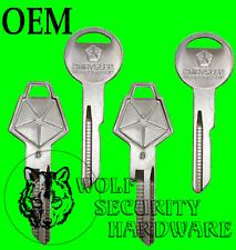 Lot of 4 Chrysler Mopar Logo OEM Ignition Door Y152 Trunk Y149 Key Blanks