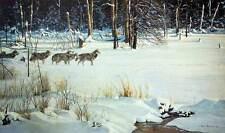 "Robert Bateman -  Wolves on the Trail S/N  LTD   Paper Print   15-1/2' x 20"""