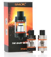 100% Authentic SMOK TFV8 Baby Beast Tank Black - Stainless Steel Genuine New