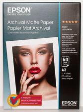Papier Epson Archival Matte Paper A3 50 feuilles 189g S041344