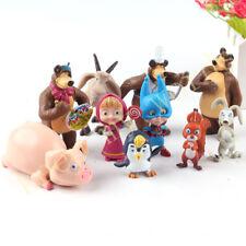Masha et Michka l'ours lot de 10 figurines poupées L'ours Michka jouets d'enfant