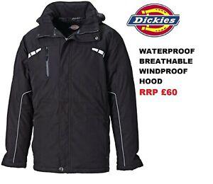 Dickies Waterproof Breathable Eisenhower Atherton Rain Jacket Work Coat RRP £60