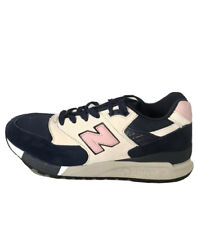 New Balance 998 Men's Suede Sneakers Navy Off White Pink 8 M USA