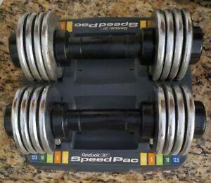 Reebok weights Speed Pac 25 Adjustable Dumbbell Pair