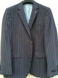 Gurteen Menswear Burgundy Striped Navy Boating Jacket -all Sizes-BNWT