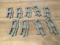 LEGO Duplo Track Parts Lot Gray curved Train Replacement