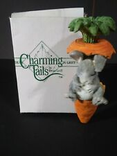 Fitz And Floyd Charming Tails Ornament I'm Full Rabbit Carrot