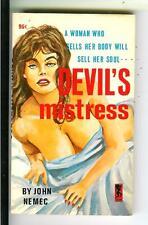 DEVIL'S MISTRESS by Nemec, rare US Playtime #798 sleaze gga pulp vintage pb