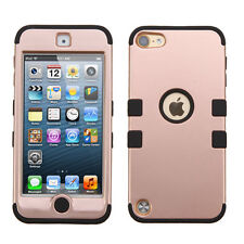 iPod Touch 6 6th Gen IMPACT TUFF HYBRID Skin Case Phone Cover Rose Gold Black
