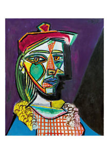 Femme au Beret et a La Robe by Pablo Picasso A2 High Quality Art Print