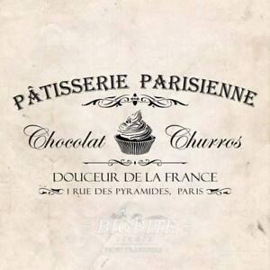 WATER DECAL: French Cupcake Paris Patisserie (Furniture Print Transfer) #077