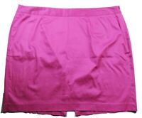 Lane Bryant Women's A Line Skirt Size 24 Solid Pink Side Zip