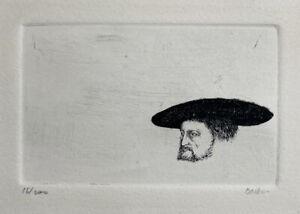 Leonard Baskin ~Original Pencil Signed Etching Hans Sebald Beham
