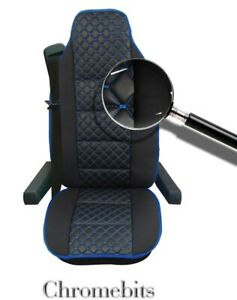 Premium Black Leatherette & Fabric Comfort Seat Cover For Volvo Fh12 Fh16 Fl Fm