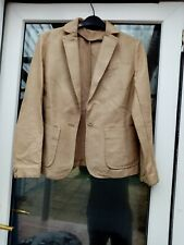Gap women's taupe one button Suit Jacket Size XS, Pit to pit 17in