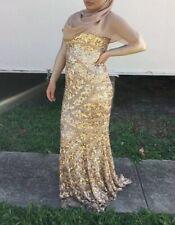 Stunning Gold Sequin Maxi Rachel Gilbert Dress Size 6 RRP $1500