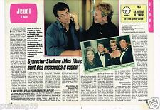 Coupure de presse Clipping 1986 (2 pages) Sylvester Stallone