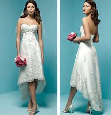 White/Ivory Short Wedding Dresses Beach Bridal Gowns Prom Formal Evening Dresses