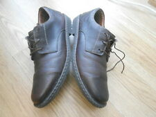 CLARKS PLUS  UNSTRUCTURED  BROWN LEATHER  SHOES  SIZE UK ADULTS 13