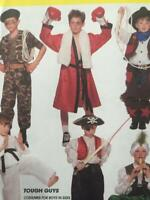 McCalls Sewing Pattern 7744 Boys Childs Cowboys Army Pirate Karate Size 10-12 UC