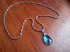 1PCS Sword Art Online Necklace Heart of Yui Blue Crystal Anime Cosplay#SA88