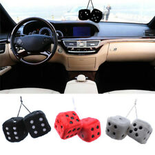 Plush Dice Craps Home Rear View Mirror Car Pendant Charms Ornaments Hanging